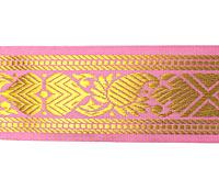 【訳ありセール品】ザリの中幅チロリアンテープ-メーター売り【約4cm】-6番-ピンク