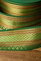 (幅:約4cm)中幅のチロリアンテープ (1m売り) - 緑