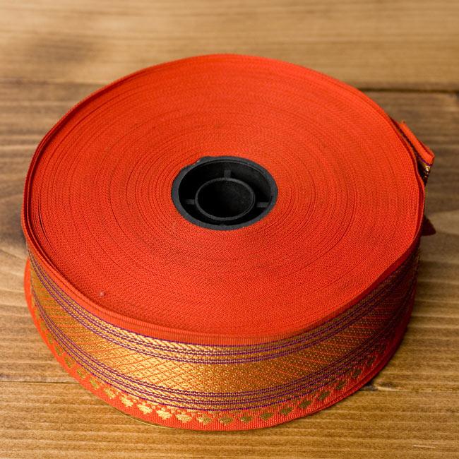 [幅:約4cm]中幅のチロリアンテープ - オレンジ[25m売り]の写真6 - ロール状ではこのような姿です。