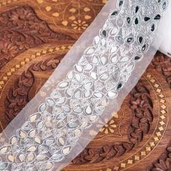 チロリアンテープ メーター売 - ミラーワークと銀糸が美しい〔幅:約8cm〕