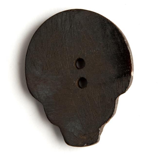 水牛の角ボタン[5個セット] - てんとう虫- 約4cm 2 - 裏面を撮影しました