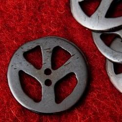 水牛の角ボタン[5個セット] - ピース - 約3cm