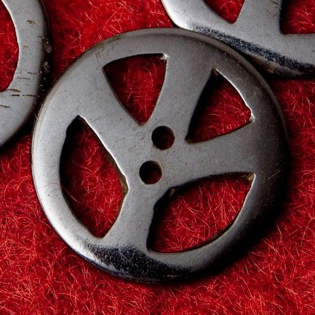 水牛の角ボタン[5個セット] - ピース - 約3cm 2 - 表面です。