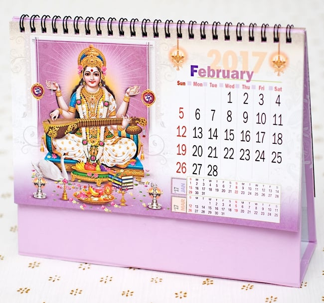 【2017年度版】インドの卓上カレンダー Divya Shaktiの写真3 - 別の月を見てみました。