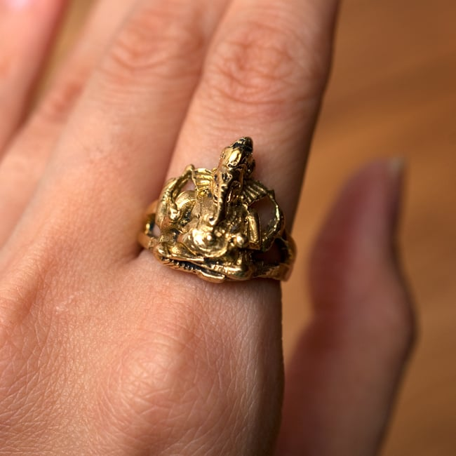 ガネーシャのリングの写真6 - 素敵な存在感です!