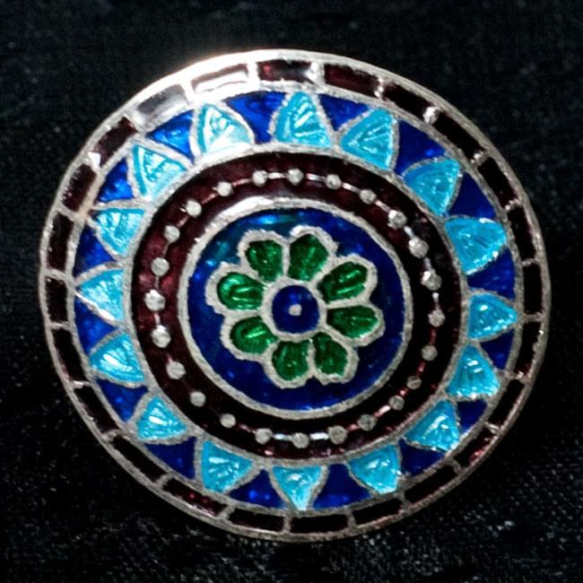 [シルバー925]ムガルのシルバーリング - 青×緑系 10 - 【選択 - F】の写真です。