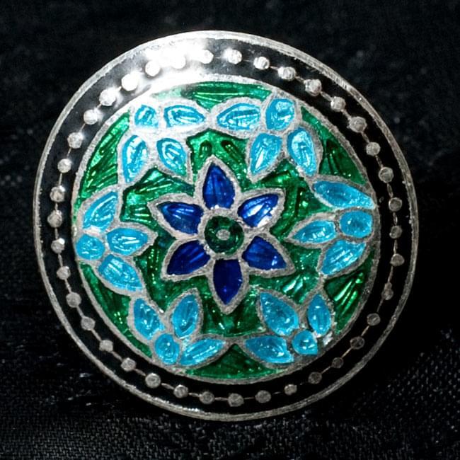 [シルバー925]ムガルのシルバーリング - 青×緑系 7 - 【選択 - C】の写真です。