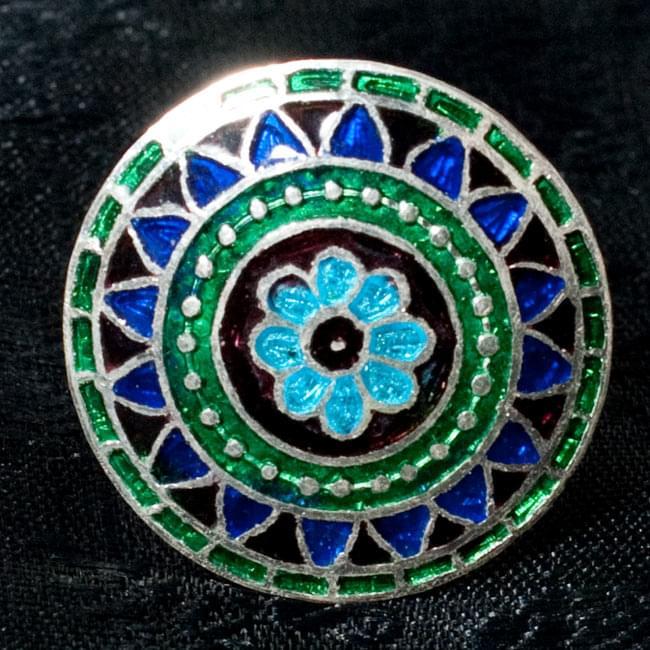 [シルバー925]ムガルのシルバーリング - 青×緑系 8 - 【選択 - D】の写真です。