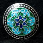 [シルバー925]ムガルのシルバーリング - 青×緑系-【選択-C】サイズ:12号