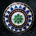 [シルバー925]ムガルのシルバーリング - 青×緑系-【選択-G】サイズ:12号
