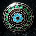 [シルバー925]ムガルのシルバーリング - 青×緑系-【選択-H】サイズ:12号