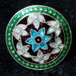 [シルバー925]ムガルのシルバーリング - 青×緑系-【選択-L】サイズ:14号