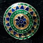 [シルバー925]ムガルのシルバーリング - 青×緑系-【選択-M】サイズ:17号