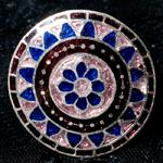 [シルバー925]ムガルのシルバーリング - ピンク×青系-【選択-A】サイズ:17号