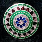 [シルバー925]ムガルのシルバーリング - ピンク×青系-【選択-B】サイズ:17号
