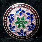 [シルバー925]ムガルのシルバーリング - ピンク×青系-【選択-C】サイズ:17号