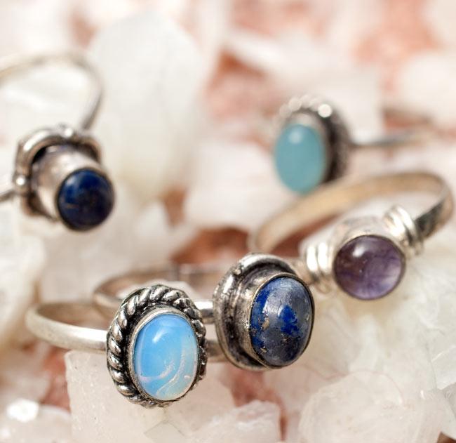 天然石のリング[アソート] 2 - 色々な石の中からアソートでお送りします。