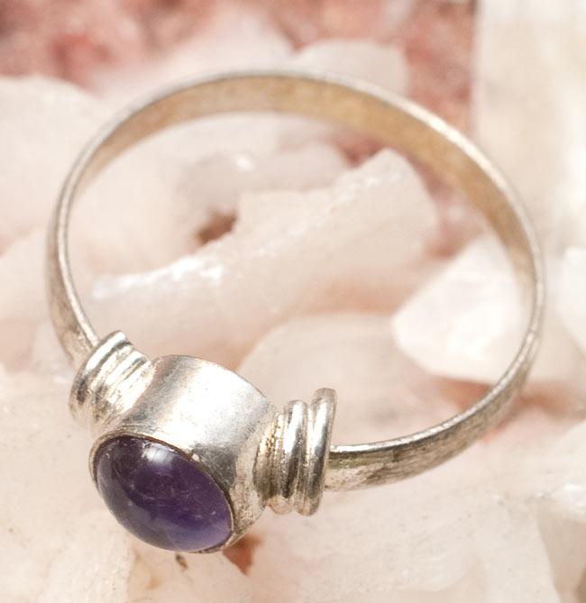 天然石のリング[アソート] 4 - アメジストのリングです