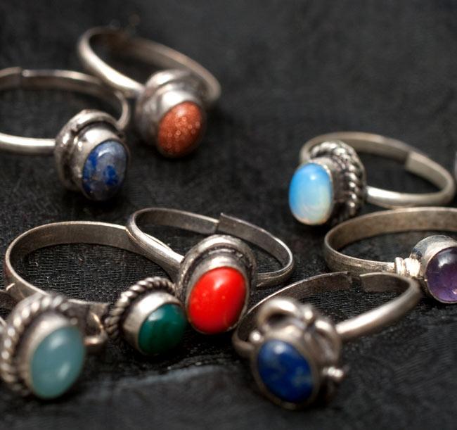 天然石のリング[アソート] 5 - ラピスラズリのリングです