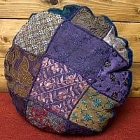 ラジャスタン刺繍のクッションカバー - 紺系アソート