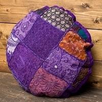 ラジャスタン刺繍のクッションカバー - 紫系アソート