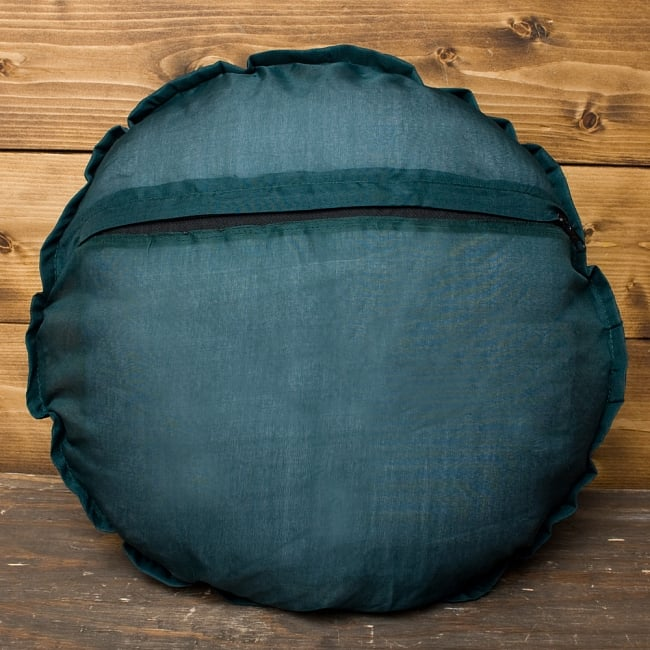 【ラジャスタン刺繍】クッションカバー - 緑系アソートの写真5 - 裏側はこのようになっております