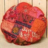ラジャスタン刺繍のクッションカバー - 赤系アソート