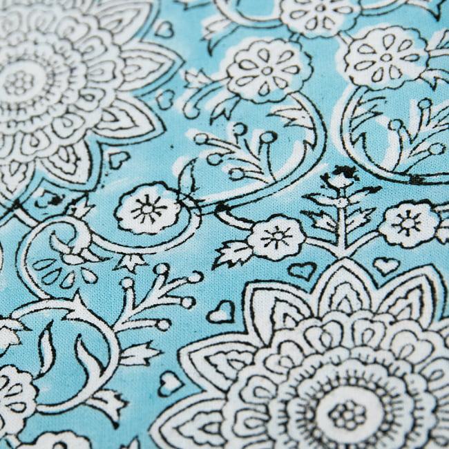 【自由に選べる2個セット】ボタニカル柄の木版染めクッションカバー 6 - 拡大写真です