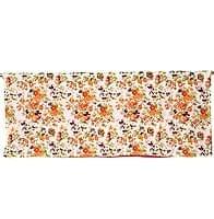 【裏地付き】インドのコットンカフェカーテン【花柄】 - 薄オレンジ系