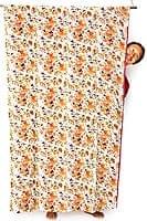 【裏地付き】インドのコットンカーテン【花柄】 - アプリコット&黄色系