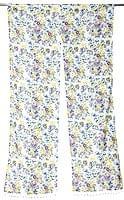 インドのコットンのれん【花柄】 - 青&紫&黄色系