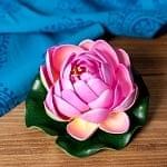 〔約9.5cm〕水に浮かぶ 睡蓮の造花 フローティングロータス - ピンク