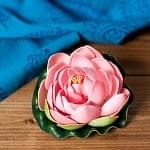 〔約9.5cm〕水に浮かぶ 睡蓮の造花 フローティングロータス - コーラルピンク