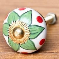 アジアンデザインの取っ手 陶器のプルノブ(ドアノブ)【約3cm】の商品写真