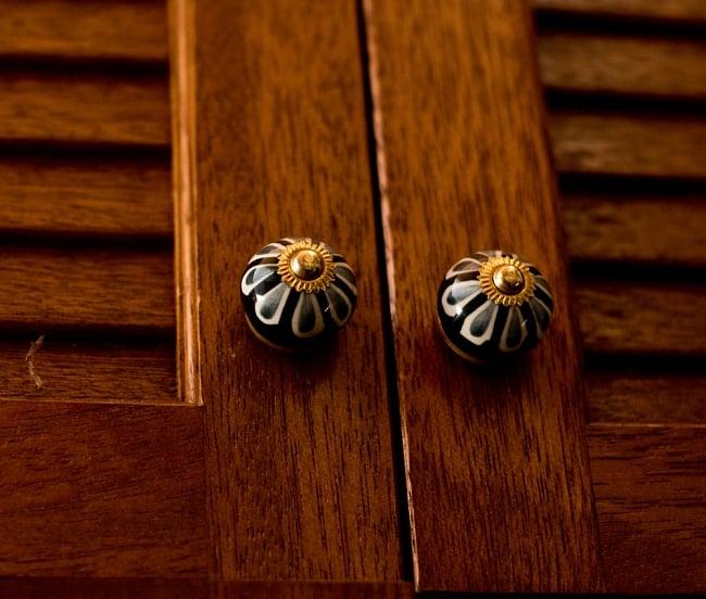 アジアンデザインの取っ手 陶器のプルノブ(ドアノブ)【約3.7cm】 5 - 家具やドアノブが可愛く変身! お気に入りの一つを見つけて下さい。