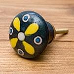 アジアンデザインの取っ手 陶器のプルノブ(ドアノブ)