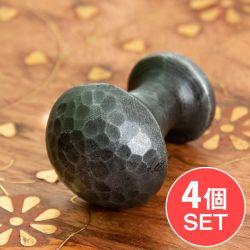 【4個セット】槌目仕上げ アイアンプルノブ ヴィンテージ調 直径3cm