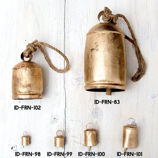 ドアチャイムなどへ!手作りのやさしい音色 インドの銅製カウベル-【7cm*10cm】 8 - 同ジャンル品とのサイズ比較写真になります
