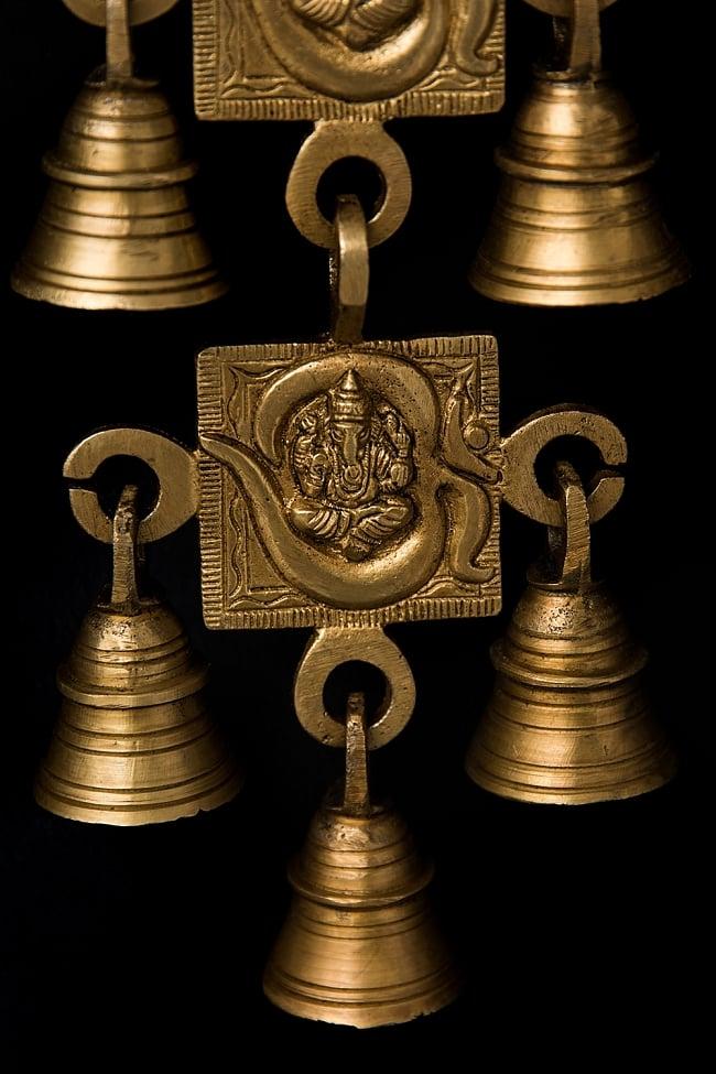 インドの神様ベル【4段】 3 - 重厚な存在感があります。