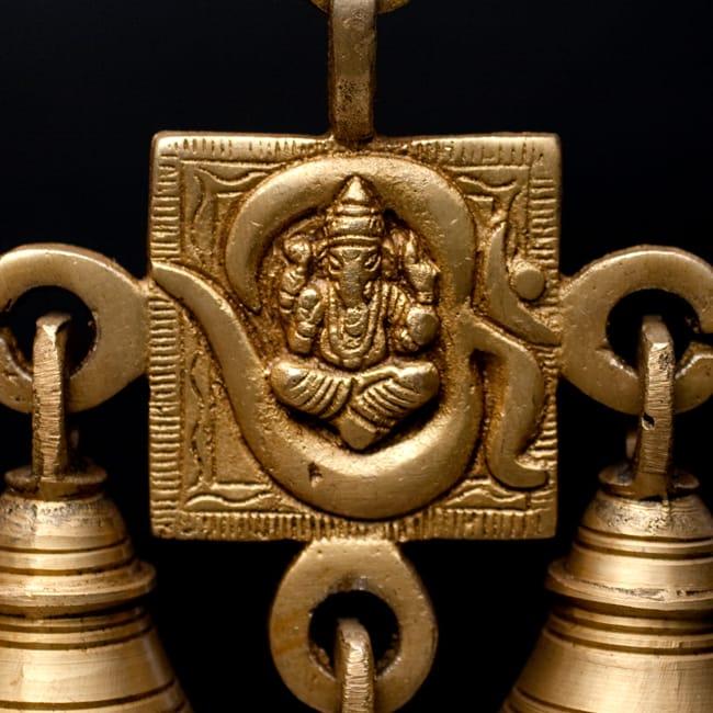インドの神様ベル【1段】の写真8 - 【選択C:ガネーシャ柄】 はこちらになります。
