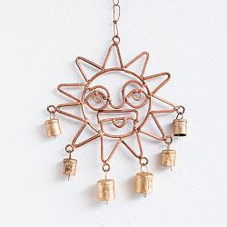 インドの銅製ハンギング - 太陽神スーリャ