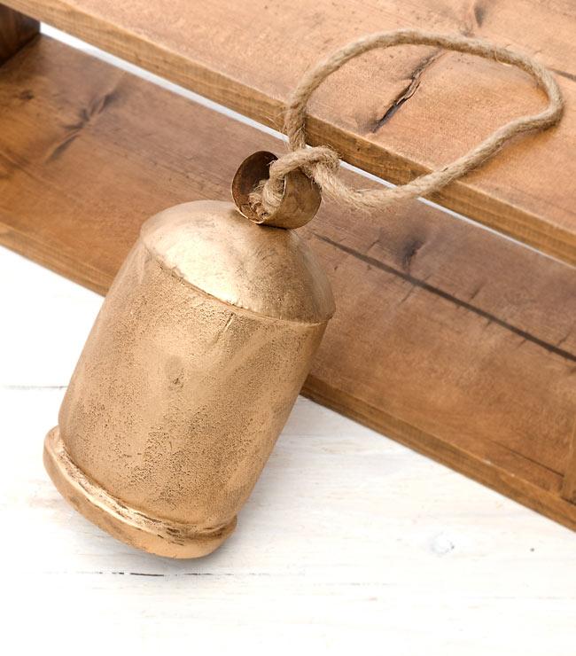 ドアチャイムなどへ!手作りのやさしい音色 インドの銅製カウベル-【10cm*19cm】の写真