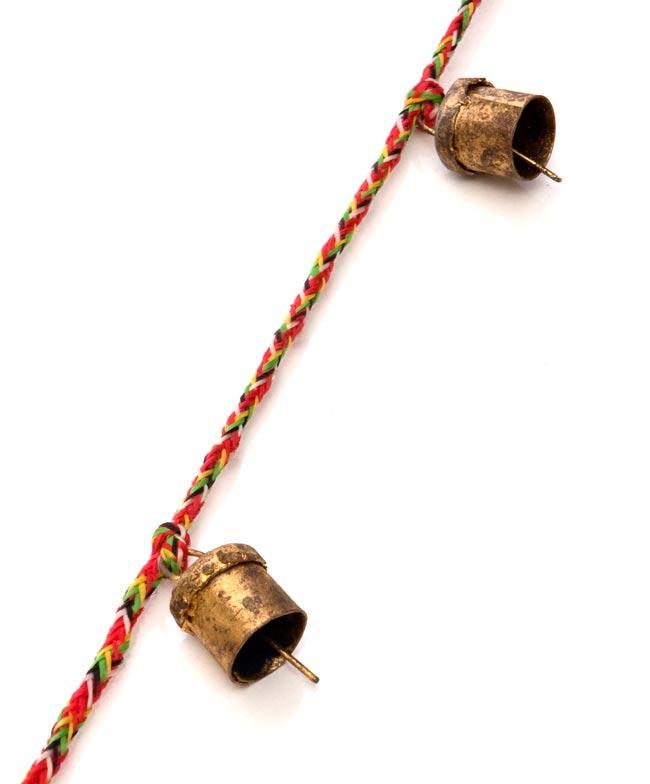 ドアチャイムなどへ!手作りのやさしい音色 インドの銅製カウベル-【1.5cm*1cm*100cm】 3 - アップにして撮ってみました。