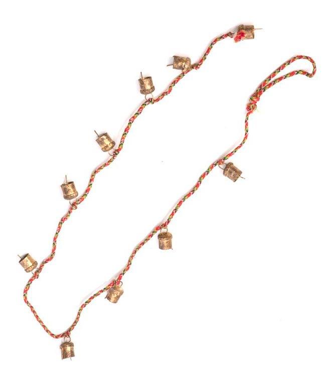 ドアチャイムなどへ!手作りのやさしい音色 インドの銅製カウベル-【1.5cm*1cm*100cm】 4 - 半分にしてみました。長さはたっぷりあります。