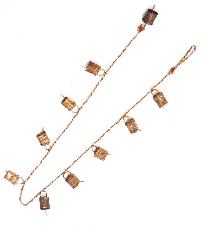 インドの銅製カウベル-【3cm*2cm*110cm】の写真4 - 半分にしてみました。長さはたっぷりあります。