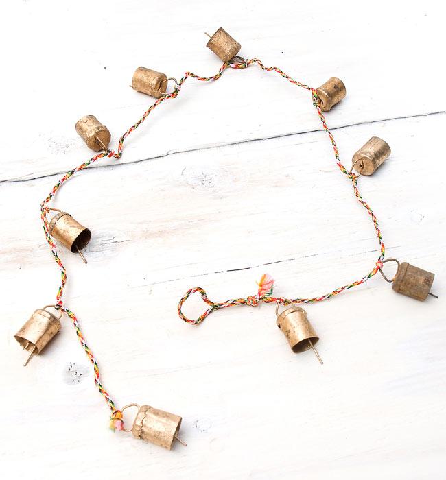 インドの銅製カウベル-【3cm*2cm*110cm】の写真