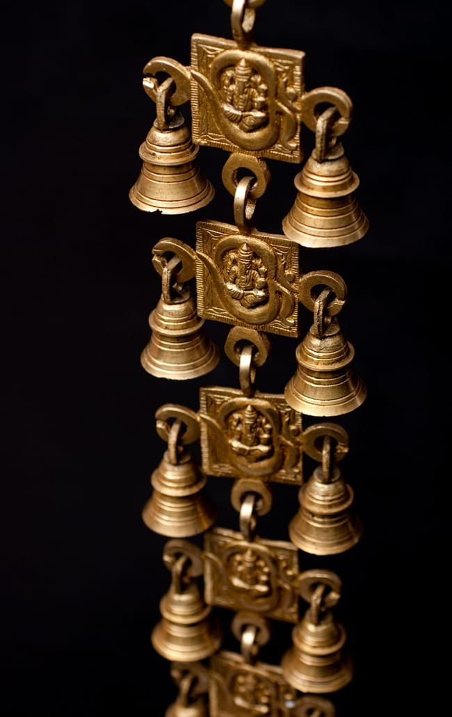 インドの神様ベル【5段】 2 - 斜め上からの写真です