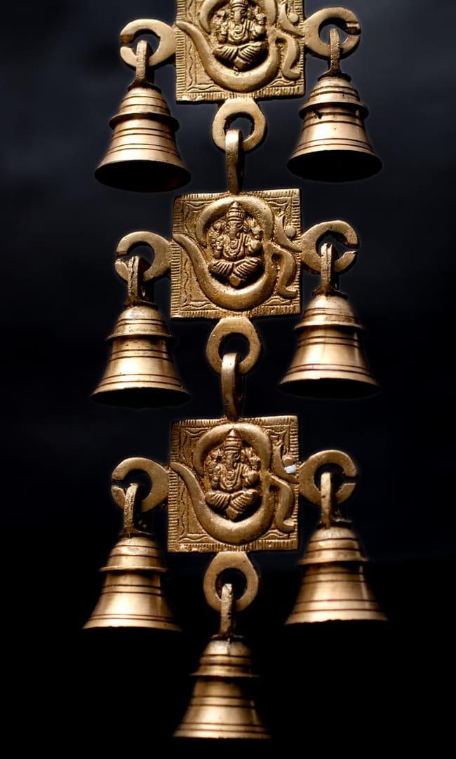 インドの神様ベル【5段】の写真3 - 下からの写真です