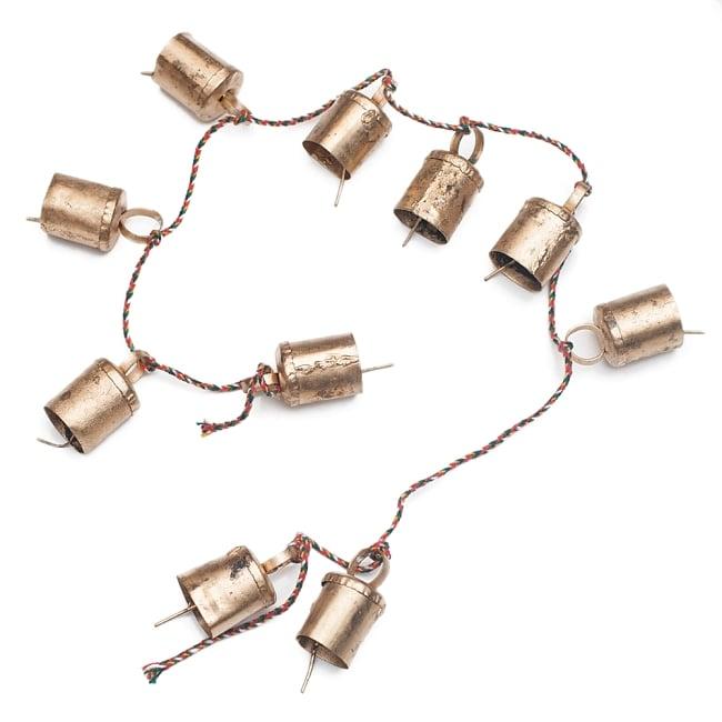 ドアチャイムなどへ!手作りのやさしい音色 インドの銅製カウベル-【3cm*2cm*100cm】の写真