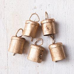 【3個セット】手作りのやさしい音色 インドの銅製ベル-【1.7cm*2.3cm】